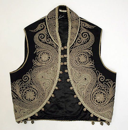 Early 20th century embroidered Turkish mans vest