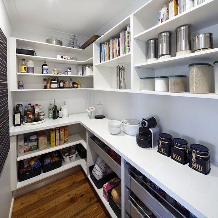 Pantry love... Walk-in or butlers, it's a must/lust have for any kitchen…