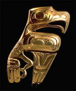 Gold eagle brooch by Canadian artist Bill Reid. #Canada