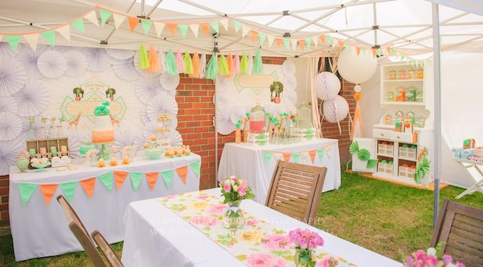 Vintage Peach and Mint Circus Party with Lots of Really Cute Ideas via Kara's Party Ideas Kara Allen KarasPartyIdeas.com #vintagecircusparty #circuscake (4)