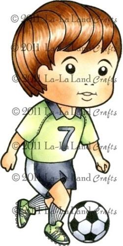 Soccer Luka La La Land Crafts Mounted Rubber Stamp Boy   eBay