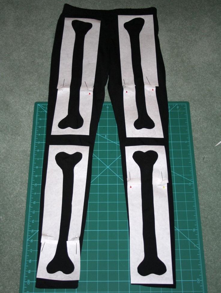 DIY Skeleton Leggings! #Halloween