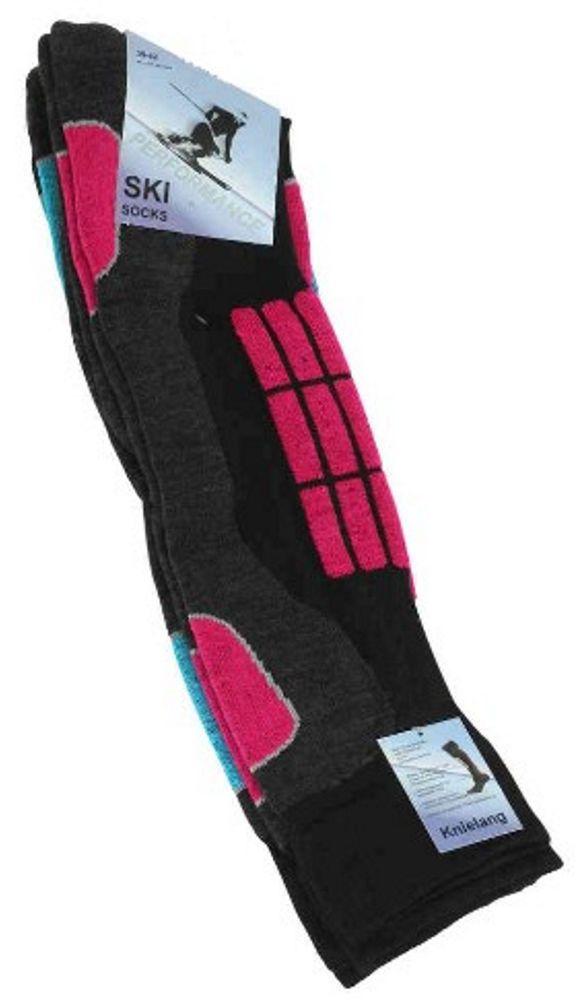 Damen Ski und Snowboard Socken knielang im 2er Pack !
