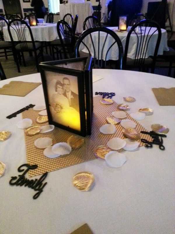 Resultado de imagen para centros de mesa para bodas de oro