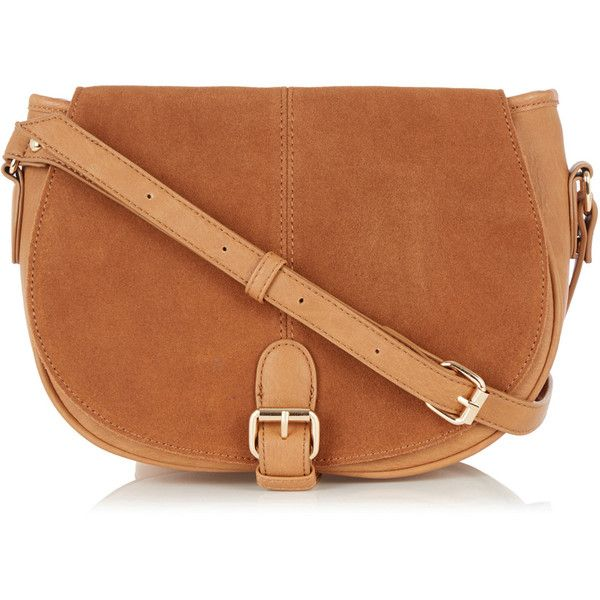 b4552ff70cfa OASIS Sydney Suede Saddle Bag ($63) ❤ liked on Polyvore featuring ...