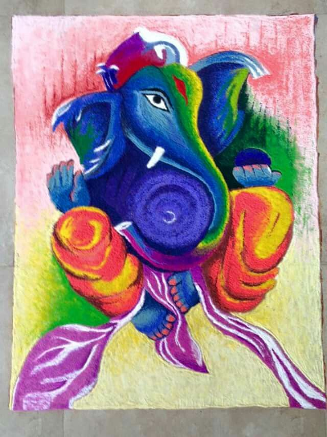 Sri Ganesh Rangoli........