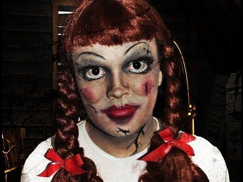 Annabelle Doll Costume Makeup Instructions - Video