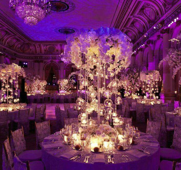Elegant Wedding Reception Decoration: 33 Best Uplighting Ideas For Weddings And Receptions