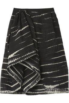 Oscar de la Renta Silk Shibori skirt|NET-A-PORTER.COM from net-a-porter.com