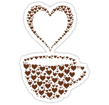 Coffee cup with hearts by Stock Image Folio