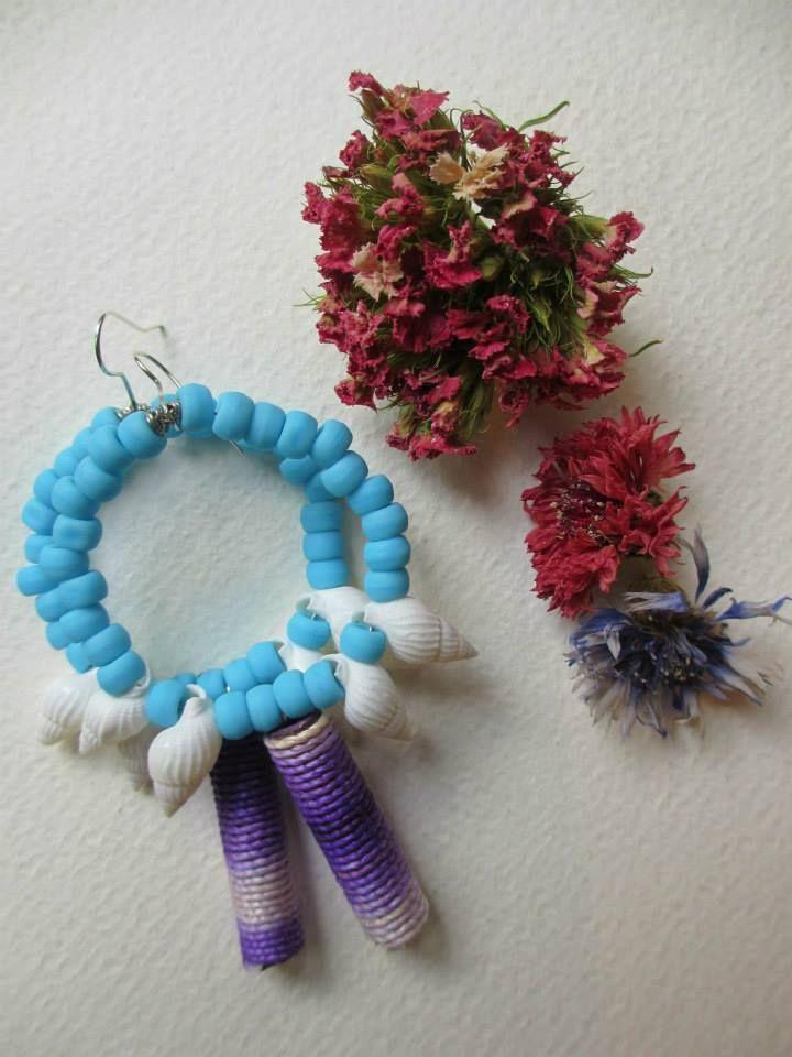 Handmade boho chic earrings. / Orecchini ispirati al mare  #earrrings #fashion #colorful #handmade #bohemianjewelry