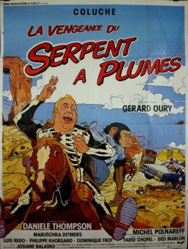 Coluche-M-Detmers-LA-VENGEANCE-DU-SERPENT-A-PLUMES-Gerard-Oury-1984-120x160