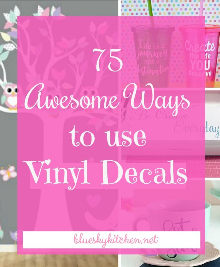 75 Awesome Ways to Use Vinyl Decals. The ideas are endless for ways to use vinyl decals. Here's a bunch of ideas to give you inspiration in your home.