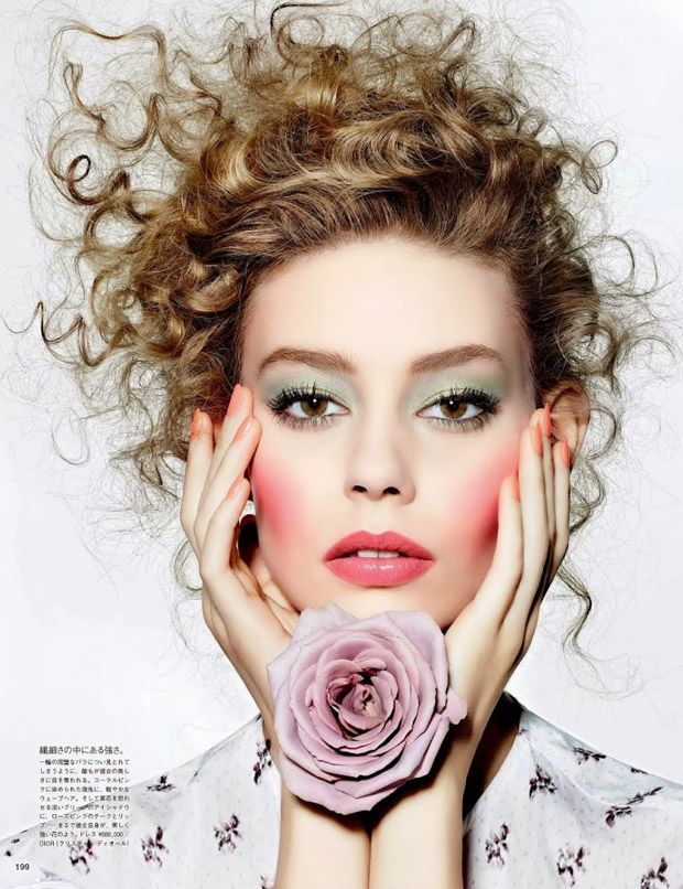 Floral Beauty Portraits : gertrud hegelund editorial