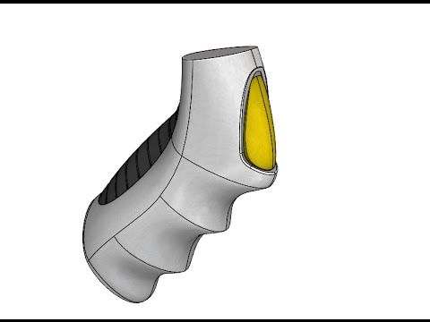 SolidWorks - Organic Shapes with Reference Surfaces - YouTube