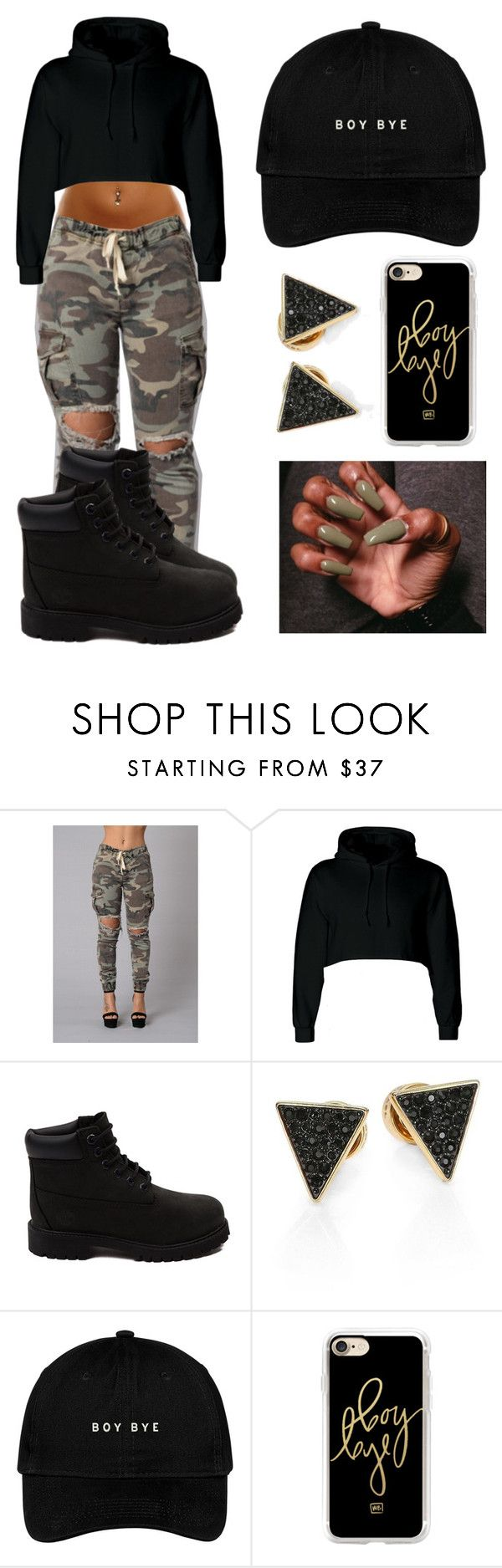 """""Boy Bye"" ✖️"" by jayleewarren ❤ liked on Polyvore featuring Timberland, Michael Kors and Casetify"