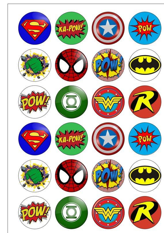 Супергерои картинки на капкейки все фасаде