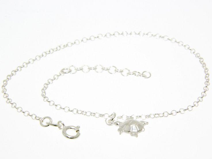 Teknősbéka motívumos ezüst bokalánc