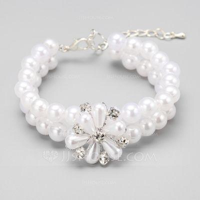 [€ 8.95] Elegante Aleación/Perlas de imitación Señoras' Pulseras (011070779)