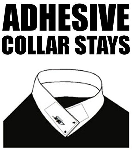 30 Pairs of ADHESIVE COLLAR STAYS No Curl Polo Shirts Collar Styx Sticks  Adhesive Collar Stays Can Be Used On Any Shirt With A Collar Including Polos and Button Downs  Can Be Removed Before Washing And Replaced Until Adhesion Wears  30 Pairs (60 Stays)  Extra Strong Hold So They Won't Fall Off  Proudly made in the USA