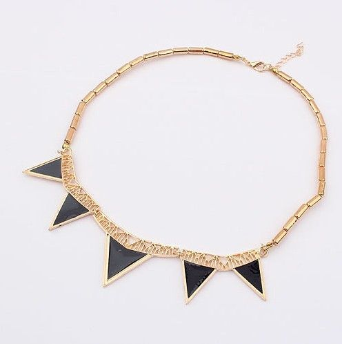 (Min order$10) Free Shipping!Europe and the United States exaggerated metal hot triangular Drop Necklace!#852 on AliExpress.com. $2.45