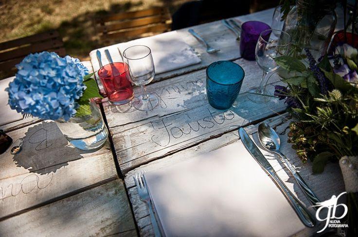 Wedding table Con le ballerine verdi{Real Wedding} Fausto e Elenaby Con le ballerine verdi