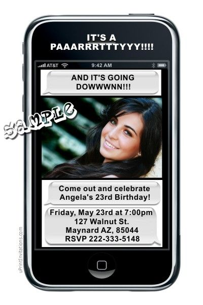 209 best Adult Birthday Party Invitations images on Pinterest