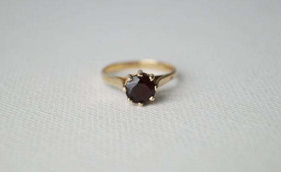 Vintage Gold Solitaire Ring  Vintage Engagement by MintNVintage