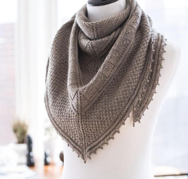 You'll love working up this textured shawl, and love wearing it even more!