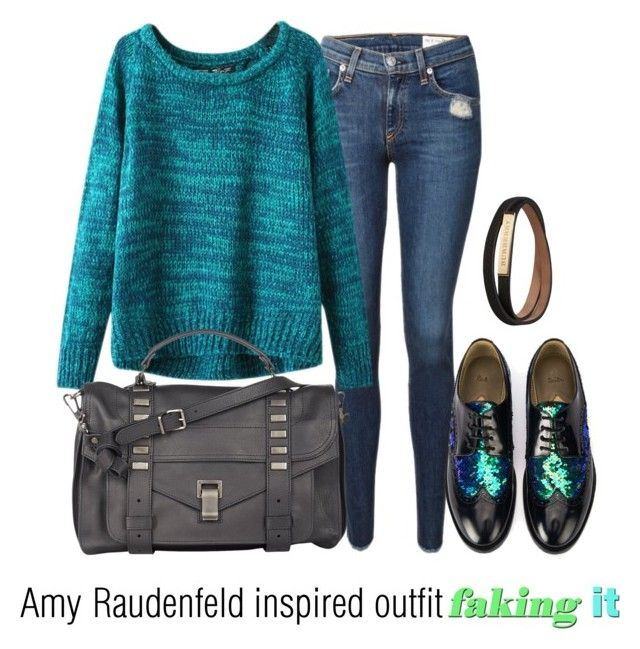"""""""Amy Raudenfeld inspired outfit/faking it"""" by tvdsarahmichele ❤ liked on Polyvore featuring rag & bone, Chicnova Fashion, Paul Smith, Proenza Schouler and Burberry"""