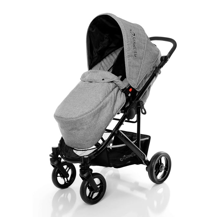 StrollAir CosmoS comes packed with bassinette, footmuff, mosquito net and rain cover. Optional universal adapter turns it into convenient travel system.
