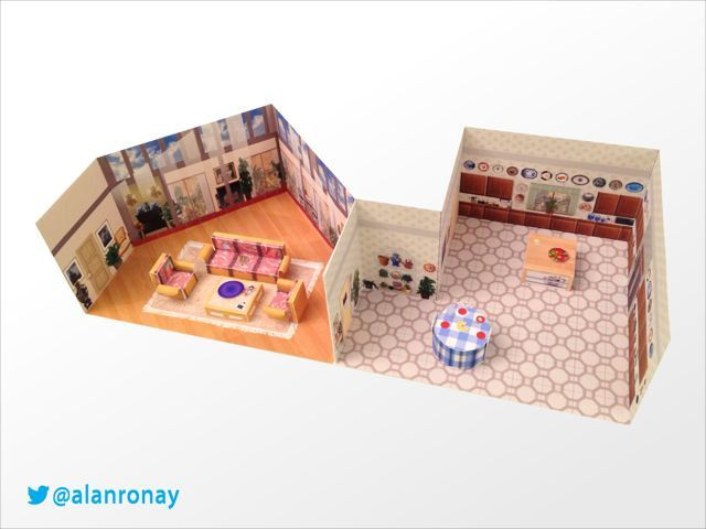 This 39 Golden Girls 39 Paper Replica Of Their Living Room And