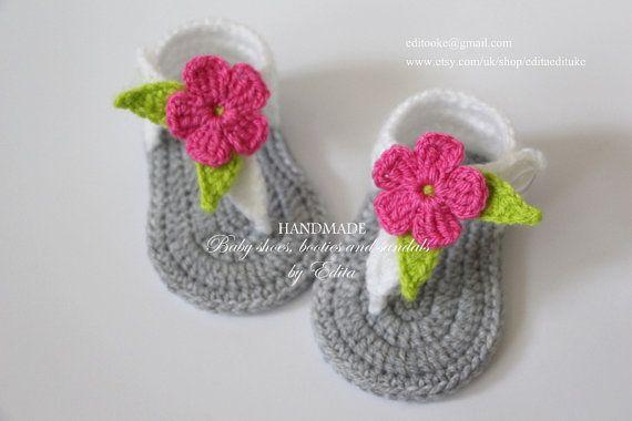 Crochet baby sandals gladiator sandals slippers por editaedituke