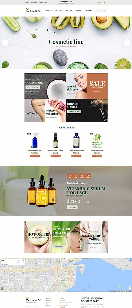 Cosmetics Store Template