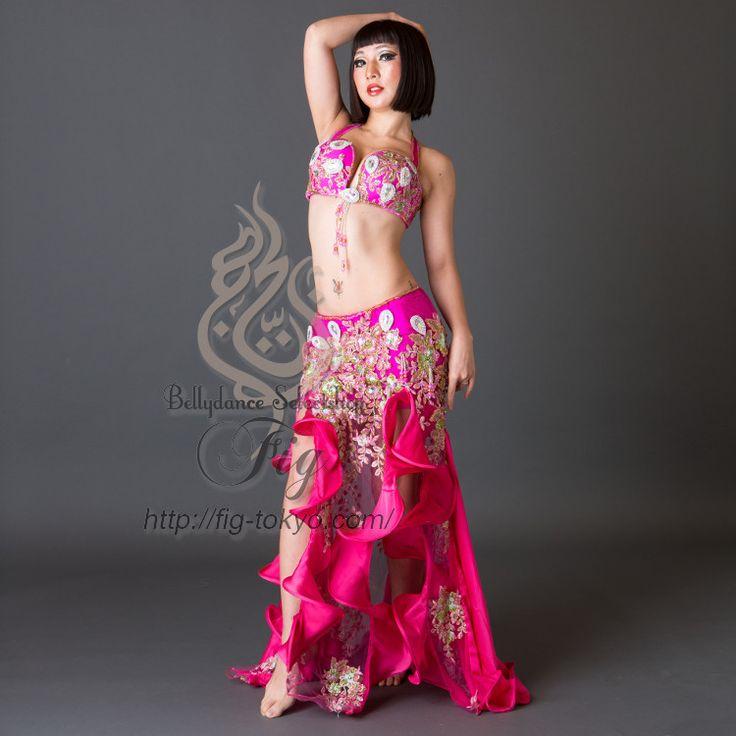 Yasser ベリーダンス衣装 一体型 / Fuchsia(20ya1711-33)
