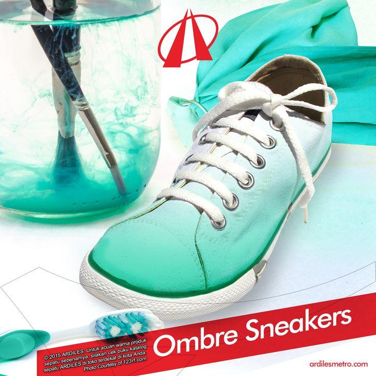 1.Siapkan pewarna pakaian. 2.Lepas tali sneakers. 3.Celup bagian depan sneakers ke dalam air yang sudah dicampur pewarna. 4.Baurkan warna dari depan ke belakang. 5.Diamkan 1-2 jam hingga warna benar-benar melekat. 6.Jemur dibawah sinar matahai. Nah ombre sneakers-mu telah siap dipakai. Ayo tambahkan koleksi sneakers Ardilesmu. Belanja aja di www.ardilesmetro.com  #ARDILESsneakers #sepatuARDILES #sepatu #casual #jalanjalan #exploreindonesia #adventure #sneakers #ARDILES #indonesia