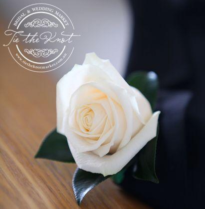 corsage white rose wedding