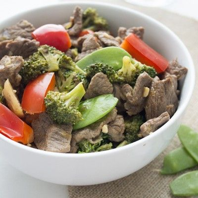 The popular takeout dish Skinny Beef and Broccoli Stir-Fry gets a healthy makeover from Skinny Mom!