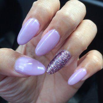 light purple acrylic nails - Google Search