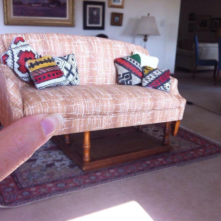 Hand painted kelim cushions to go on my Kris Compas sofa
