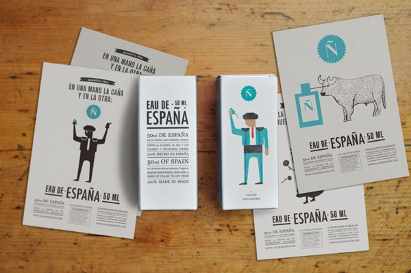 Eau de España! by TATABI Studio, via Behance