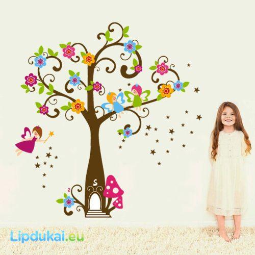 Mielosios fėjos Sienų lipdukas/ SWEET FAIRIES wall sticker #FejosLipdukas #FejuMedis #VaikuKambarioDekoracijos