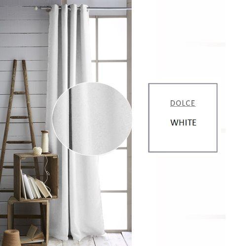Jednofarebné závesy bielej farby
