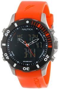 Nautica Men's N18668G BFD ANA DIGI Classic Analog with Enamel Bezel Watch
