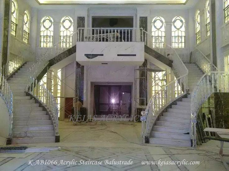 Acrylic crystal stairway for house
