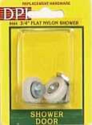 """Prime Line 19590 Tub Enclosure Sliding Shower Door Roller & Hex Nut, 3/4"""" Flat, 2 Pack"""