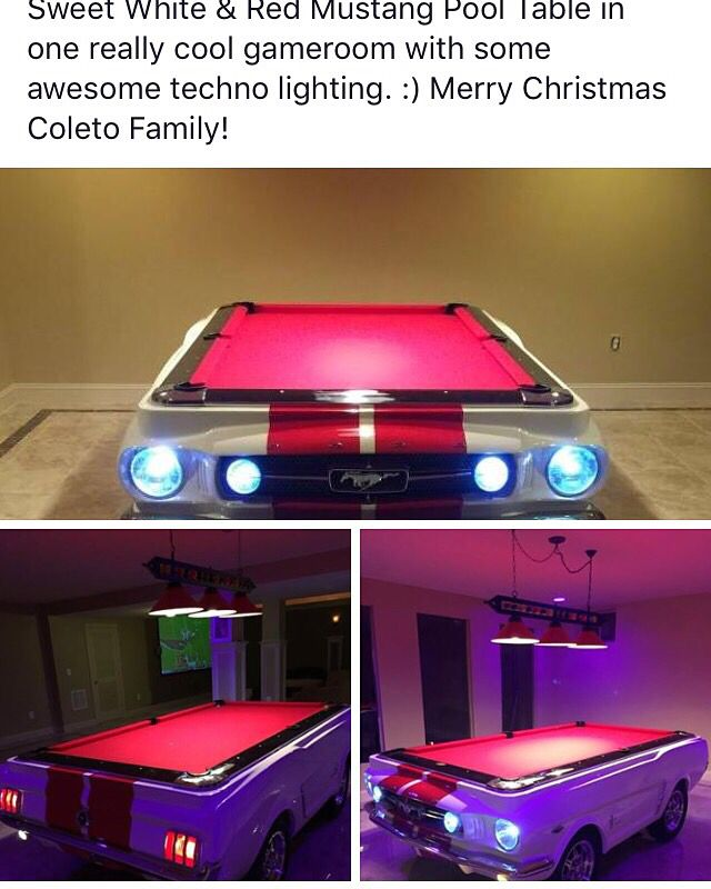 Sweet White Amp Red Mustang Pool Table In One Really