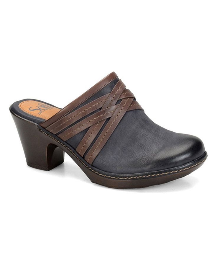 Take a look at this Söfft Bluegrass & Brown Leather Leigh Clog today!