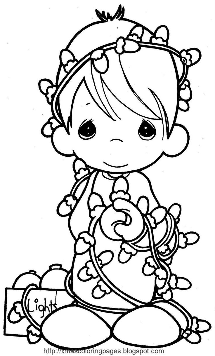 Picture for coloring printable - Christmas Precious Moments Coloring Page