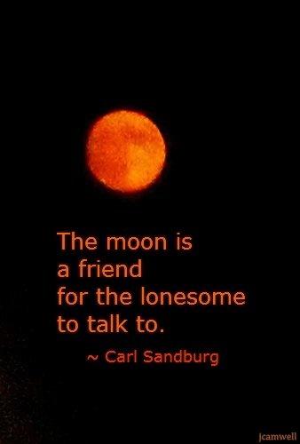 one carl sandburg poem in circle of friendly moon.